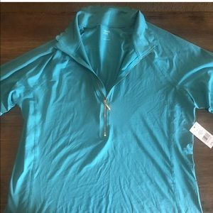 New with tags, active top, lightweight teal sz L